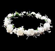 abordables -coiffes mariage fille fleur couronne avec de belles fleurs