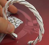 abordables -Manchettes Bracelets Femme Argent sterling dames Manchette Bracelet Bijoux Argent pour Mariage Soirée Occasion spéciale Anniversaire Cadeau Fiançailles
