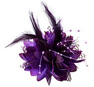 abordables -Cristal / Plume / Tissu Diadèmes / Fascinators / Fleurs avec 1 Mariage / Occasion spéciale / Fête / Soirée Casque