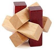 abordables -Puzzle Puzzles en bois IQ Casse-Tête Casse-tête Chinois Maquettes de Bois 1 pcs Niveau professionnel Vitesse En bois Pour Enfant Garçon Fille / 14 ans et +