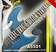 abordables -alice - (a5501) cordes en acier inoxydable guitare électrique (010-046)