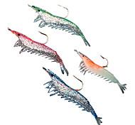 abordables -4 pcs leurres souples Leurre souple Kits de leurre Ecrevisses / Crevette Bass Truite Brochet Pêche en mer Pêche d'eau douce Pêche de la perche