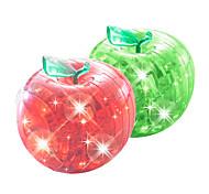 abordables -pomme Puzzles 3D Puzzles en bois Puzzles en Cristal Maquettes de Bois Plastique ABS Enfant Adulte Jouet Cadeau
