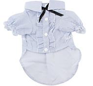 abordables -Chien Tee-shirt Rayure Décontracté / Quotidien Vêtements pour Chien Vêtements pour chiots Tenues De Chien Costume pour fille et garçon chien Coton XS S M L XL