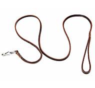 economico -classico strato superiore guinzaglio del cane in cuoio (120cm/47inch, marrone)