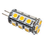 economico -2 W LED a pannocchia 3000 lm G4 T 18 Perline LED SMD 5050 Bianco caldo 12 V / # / CE