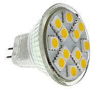 abordables -2 W Spot LED 160 lm GU4(MR11) MR11 12 Perles LED SMD 5050 Blanc Chaud 12 V