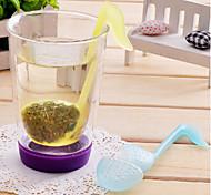 abordables -symbole du thé en forme phonétique laisse filtre à tamis (couleur aléatoire)