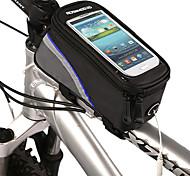 economico -ROSWHEEL Borsa per cellulare Marsupio triangolare da telaio bici Ompermeabile Strisce riflettenti Borsa da bici Poliestere PVC Marsupio da bici Borsa da bici iPhone 5c / iPhone 4 / 4S / iPhone 5/5S