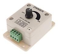 abordables -dc12-24v 8a pwm contrôleur de variateur manuel, 0% -100% de contrôle de gradation pwm, variateur led de luminosité pour bandes 5050/3528 à couleur unique, lampes à ruban, lampes à ruban ou autres prod