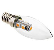 abordables -1pc 1 W Ampoules Bougies LED 50-80 lm E14 C35 7 Perles LED SMD 5050 Décoration de mariage de Noël Blanc Chaud 220-240 V / # / RoHs