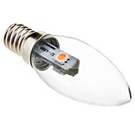 abordables -1pc 0.5 W Ampoules Bougies LED 30 lm E14 C35 3 Perles LED SMD 5050 Décoration de mariage de Noël Blanc Chaud 220-240 V / RoHs