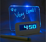 economico -message board blu light digital alarm clock con 4 porte usb hub 1pc (usb)