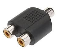 abordables -1 à 2 RCA femelle Prise AV Splitter Adapter