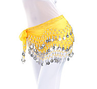 abordables -Danse du ventre Echarpe de hanche de danse du ventre Jeton Billes Femme Entraînement Mousseline de soie / Salle de bal