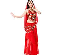abordables -Danse du ventre Haut Jeton Billes Paillette Femme Utilisation 7,87pouces(20cm) Mousseline de soie