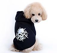 economico -Cane Felpe con cappuccio Teschi Di tendenza Abbigliamento per cani Vestiti del cucciolo Abiti per cani Costume per ragazza e ragazzo cane Cotone XS S M L XL