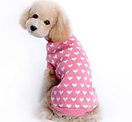 economico -Maglioni Vestiti del cucciolo Con cuori Tenere al caldo Inverno Abbigliamento per cani Vestiti del cucciolo Abiti per cani Rosa Costume Da ragazza per ragazza e ragazzo cane Lanetta XS S M L XL XXL