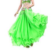 abordables -Danse du ventre Jupe Drapée Robe pan volant Femme Entraînement Taille moyenne Mousseline de soie / Salle de bal
