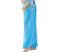 abordables -Danse du ventre Pantalon Paillette Femme Entraînement Taille moyenne Mousseline de soie / Salle de bal