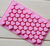 economico -55 fori silicone antiaderente torta al cioccolato amore cuore a forma di stampo bakeware cottura gelatina cuore muffa del cuore