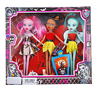 abordables -Zombie poupée Barbie Girl de mode avec des robes et accessoires (couleur aléatoire)