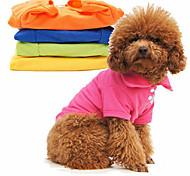 abordables -Chien Tee-shirt Chemise Vêtements pour chiots Couleur Pleine Hiver Vêtements pour Chien Vêtements pour chiots Tenues De Chien Costume pour fille et garçon chien Coton XS S M L