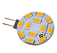 abordables -1pc 5 W Spot LED 550-600 lm G4 12 Perles LED SMD 5730 Blanc Chaud 220-240 V