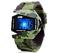 economico -SKMEI Per uomo Orologio militare Orologio da polso Digitale Digitale Con ciondoli Resistente all'acqua Sveglia Calendario / Due anni / Silicone