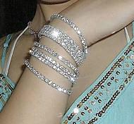 abordables -bracelet de tennis en cristal dames design unique bracelet en cristal de mode bijoux en argent pour la fête de mariage fête de fiançailles quotidienne décontractée mascarade / plaqué argent / imitation diamant 1pc