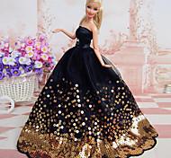 abordables -Robe de poupée Fête / Soirée Pour Barbie Polyester Robe Pour Fille de Jouets DIY  / Enfants