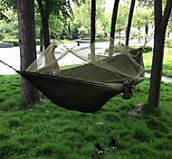 abordables -Hamac de camping avec moustiquaire Hamac double Extérieur Nylon Parachute Portable Respirable Séchage rapide Anti-Moustique Ultra léger (UL) avec mousquetons et sangles pour Chasse Pêche Randonnée 2