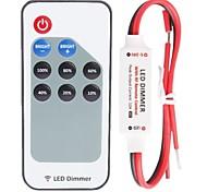 abordables -zdm 1pc 9 clé sans fil mini contrôleur led gradateur rf télécommande pour 5050 3528 couleur unique led bande lumière dc5-24v 12a
