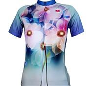 abordables -ILPALADINO Femme Manches Courtes Maillot Velo Cyclisme Floral Botanique Grandes Tailles Cyclisme Maillot Hauts / Top VTT Vélo tout terrain Vélo Route Respirable Séchage rapide Résistant aux