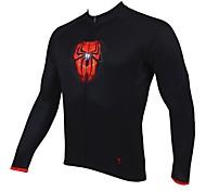 abordables -ILPALADINO Homme Manches Longues Hiver Cyclisme Maillot Hauts / Top Chaud Respirable Séchage rapide Des sports Vêtement Tenue / Résistant aux ultraviolets