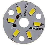 abordables -zdm 1pc 3w 300-350lm 6 x 5730 smd leds patch led panneau source lumineuse lumière blanche froide 6000-6500 k substrat en aluminium (dc9-12v, 300ma)