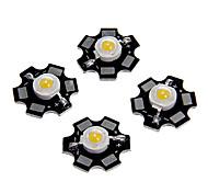 economico -5pcs 1w 80-100lm chip ad alta luminosità led bianco caldo bianco freddo bianco naturale luce blu super brillante ad alta potenza con substrato in alluminio (dc3-3.2v 280-320ma)