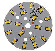 abordables -zdm 1pc 9w 500-550lm 18 x 5730 smd leds patch led panneau source lumineuse lumière blanche chaude 3000-3500 k substrat en aluminium (dc21-24v, 300ma)