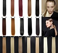 abordables -Queue-de-cheval Pièce de cheveux Droit Classique Cheveux Synthétiques 24 pouces Long Extension des cheveux Quotidien