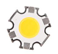 abordables -zdm 5w 400-450 lm hexapode circulaire en épi a conduit la source de lumière luminescence diamètre de la surface 11mm blanc chaud (dc15-17v, 280ma)