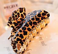 abordables -grande taille contracté acryliques pinces à cheveux de léopard de livraison aléatoires