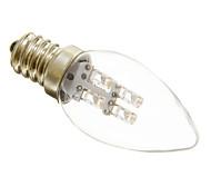 abordables -1 pc 1 W Ampoules Bougies LED 15-20 lm E12 C35 4 Perles LED Décoration de mariage de Noël Blanc Chaud Blanc Froid 220-240 V
