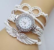 abordables -Femme Montre bracelet Montre Diamant Simulation Analogique Quartz dames Imitation diamant / Cuir / Un ans