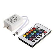 abordables -zdm 1pc dc 12v 24 clés led bande ir contrôleur à distance avec boîte de contrôleur pour 3528 5050 smd rgb led lumières de bande