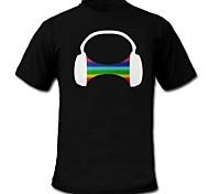 voordelige -LED T-shirts Door Geluid Geactiveerde LED Lampen / Glow in the dark Katoen Noviteit 2 AAA Batterijen / 1 LED T-Shirt