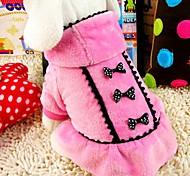 economico -Cane Cappottini All'aperto Inverno Abbigliamento per cani Vestiti del cucciolo Abiti per cani Nero Rosa Costume per ragazza e ragazzo cane Terylene Cotone XS S M L XL