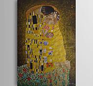 abordables -Peinture à l'huile Hang-peint Peint à la main Verticale Célèbre Classique Moderne Traditionnel Inclure cadre intérieur
