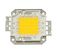 abordables -zdm bricolage 50w 4500-5500lm blanc chaud 3000-3500k lumière intégrée module led (dc33-35v 1.5a) réverbère pour projeter la soudure de fil d'or léger de support en cuivre