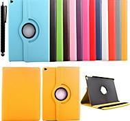 abordables -téléphone Coque Pour Apple Coque Intégrale iPad Mini 5 iPad New Air (2019) iPad Air 2 Rotation à 360 ° Avec Support Couleur Pleine faux cuir