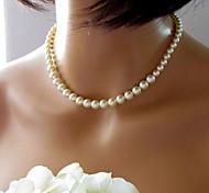 economico -Perle Collana Donne Vintage ▾ Europeo Nuziale Perla Perle finte Schermo a colori Collana Gioielli 1 pc Per Matrimonio